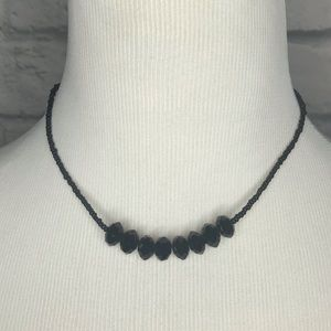 ❤️Black Beaded Necklace Simple